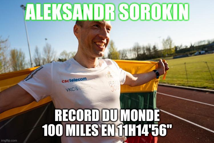 Record du monde du 100 miles sur piste